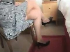 Fat granny with a hairy pussy gets undressed